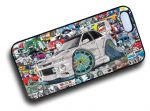 Koolart STICKERBOMB STYLE Design For Retro JDM Mitsubishi Evo 6 Hard Case Cover Fits Apple iPhone 4 & 4s